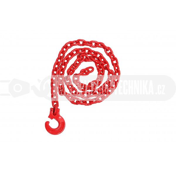 obrázek Lesnický řetěz kulatý červený pr.8 mm tř.8
