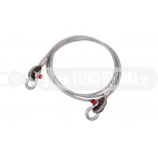 obrázek Vyproštovací ocelové lano pr.22 mm