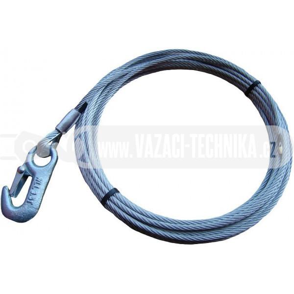 obrázek Navijákové lano STANDARD pr.4 mm s vlečným hákem 14,7 m