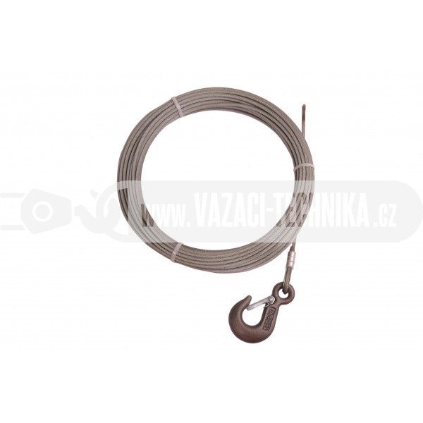 obrázek Navijákové lano HERKULES pr.4 mm s hákem 5,4 m