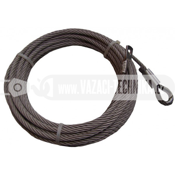 obrázek Nerezové navijákové lano pr.6 mm s očnicí 10 m