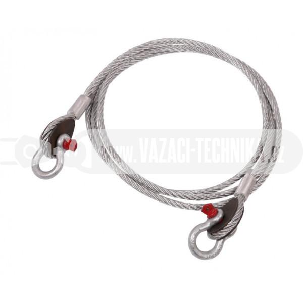 obrázek Vyproštovací ocelové lano pr.20 mm  4 m