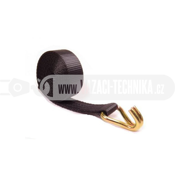 obrázek Popruh s hákem černý š.35 mm 2 t/7,6 m
