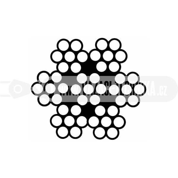 obrázek Nerezové lano 7x7 pr.5 mm 2,8 m