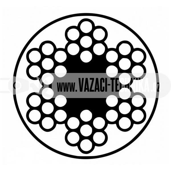 obrázek Ocelové lano STANDARD 6x7 s PVC 4/5 m/ 2,5 m