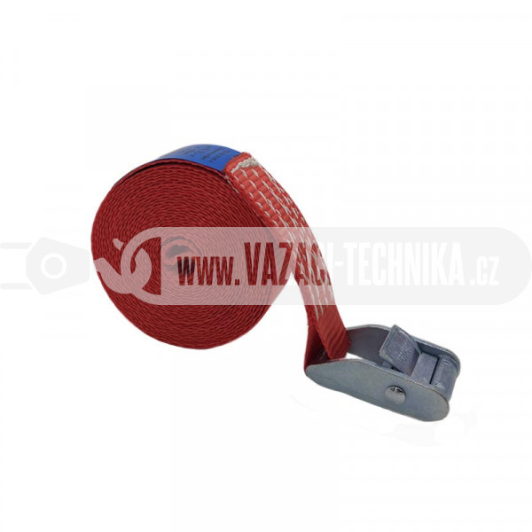 obrázek Rychloupínací popruh PES 500 kg červený