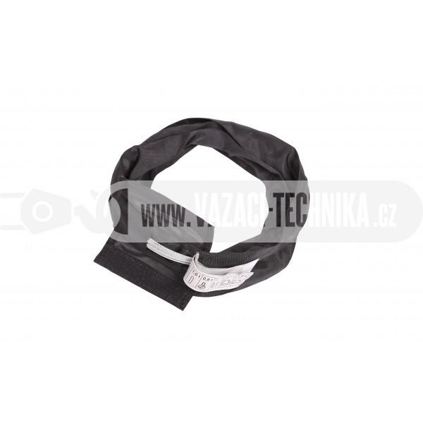 obrázek Černá nekonečná smyčka s ocelovým lanem 1 t