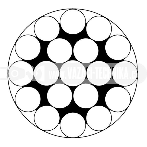 obrázek Ocelové lano STANDARD 1x19 s PVC- transparentní
