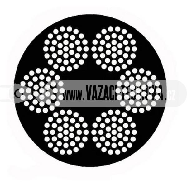 obrázek Ocelové lano STANDARD 6x37 s PVC- černé
