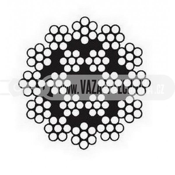 obrázek Ocelové lano HERKULES 126 drátů