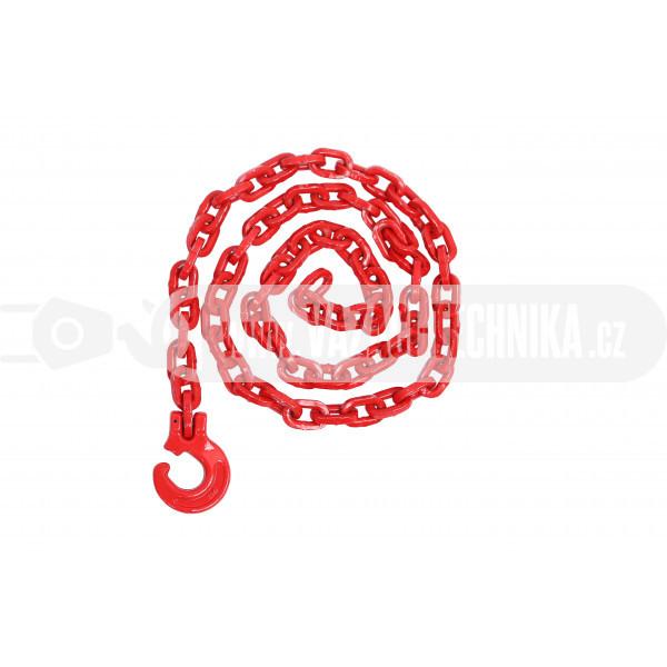 obrázek Lesnický řetěz hranatý červený pr.6 mm tř.8