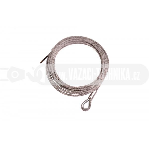 obrázek Nerezové navijákové lano pr.8 mm s očnicí