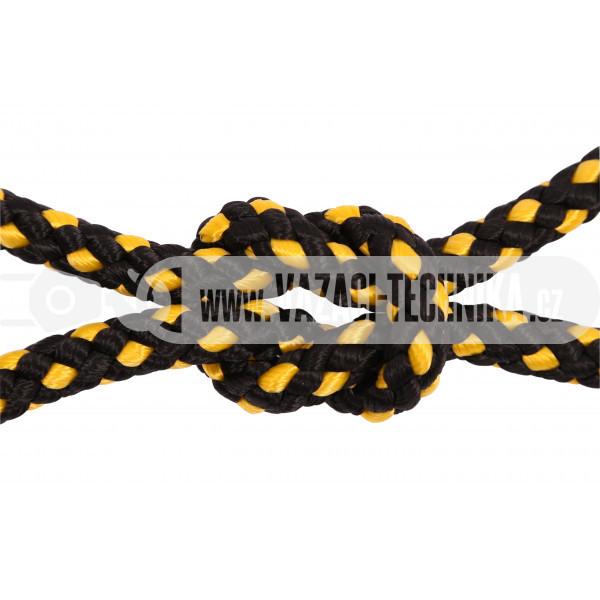 obrázek PP provaz černo-žlutý