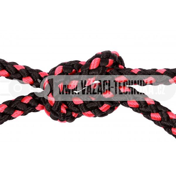 obrázek PP provaz černo-červený